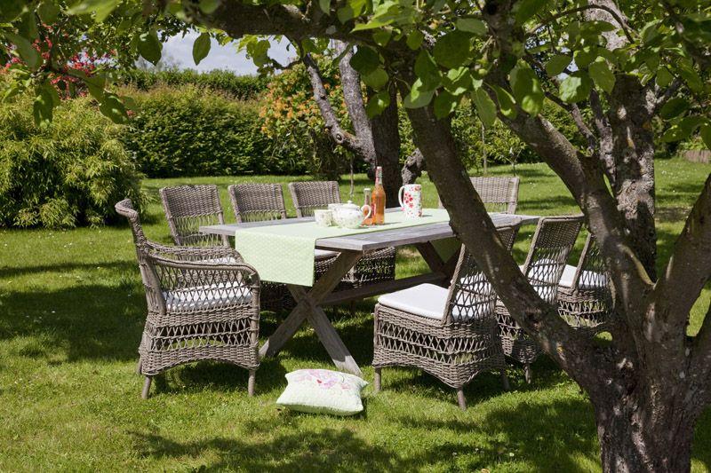 Sika-Design Marie Stol med armlæn - Antik grå - Georgia Garden