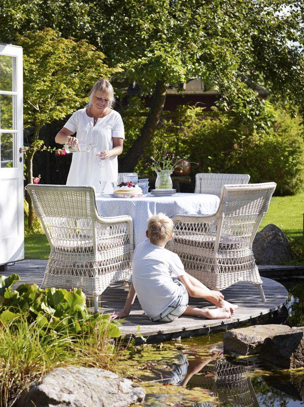 Sika-Design - Marie Stol med armlæn - Sika Design - Marie Chair med hvide armlæn
