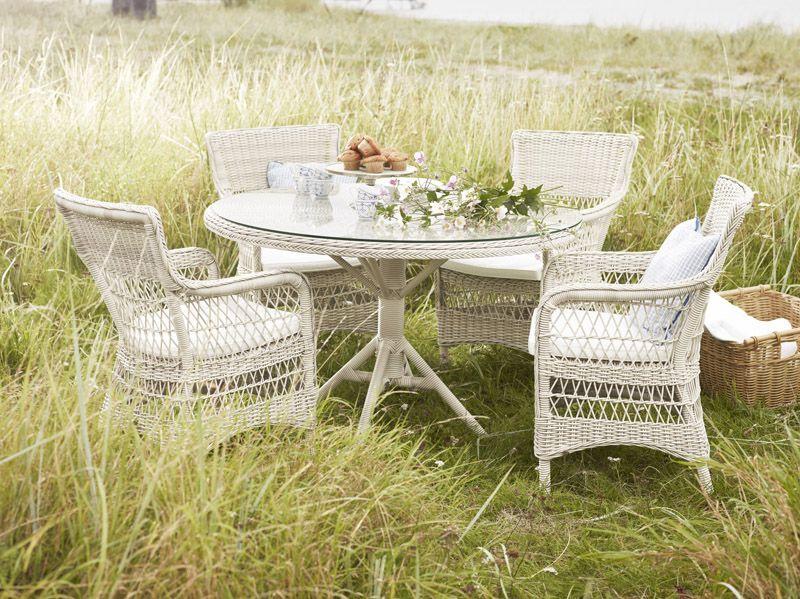 Sika-Design Marie Stol med armlæn - Vintage White - Georgia Garden