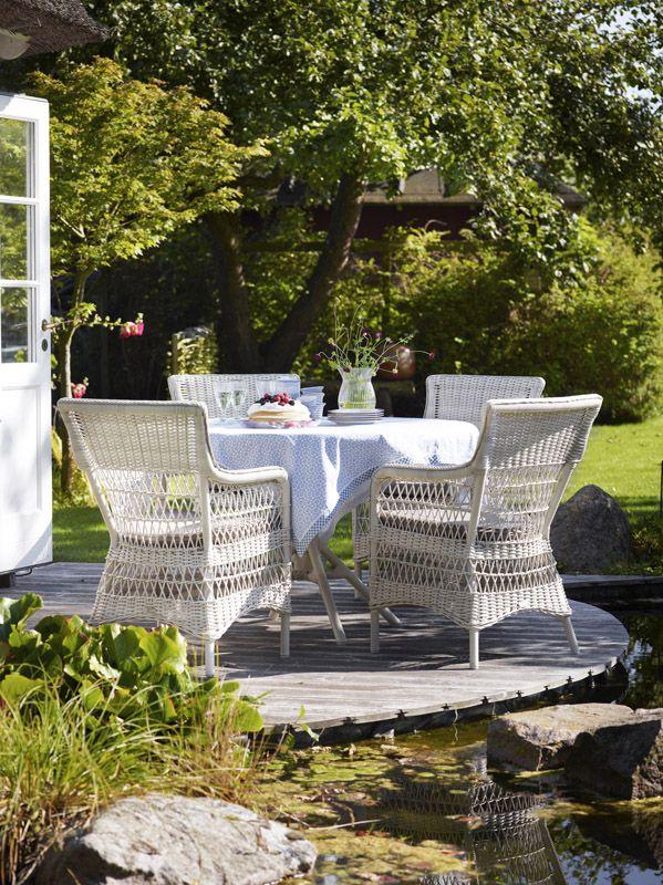 Sika-Design Marie Stol med armlæn og hynde - Georgia Garden