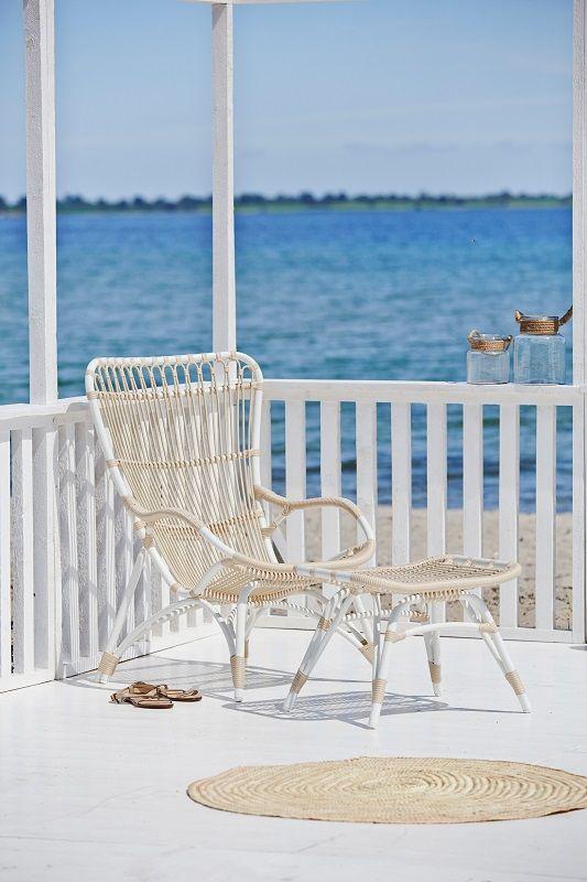 Sika-Design Monet Fodskammel - Dove White - Originals by Sika