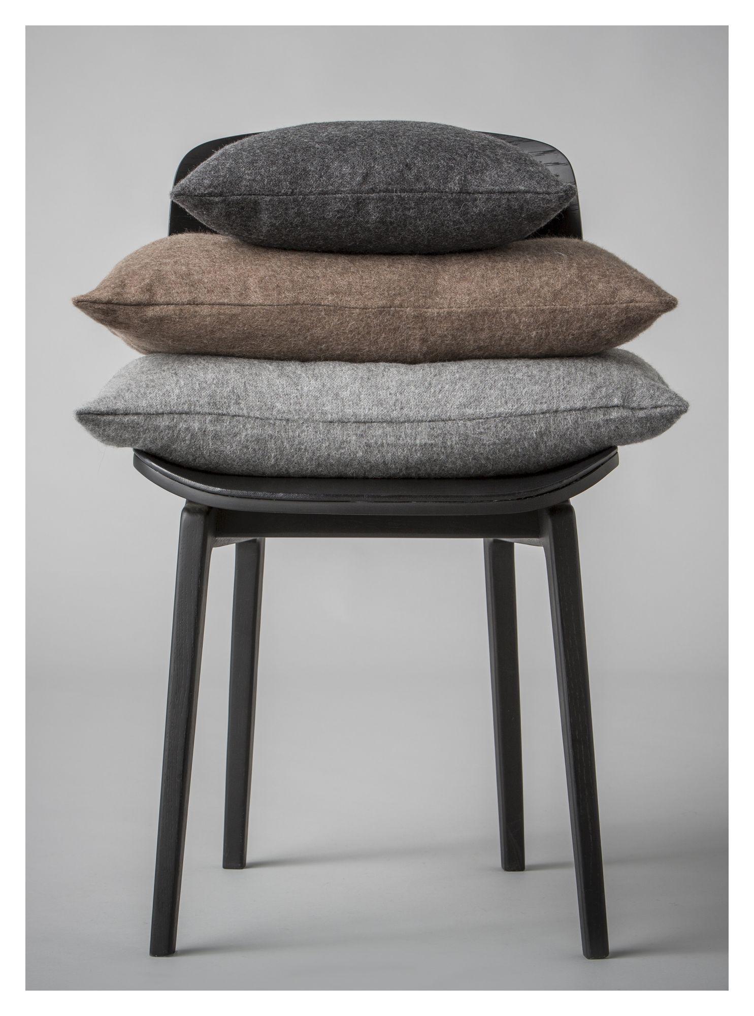 Arequipa Pude, Baby Alpaca, Dark Grey, 40x40 - Silkeborg Uldspinderi