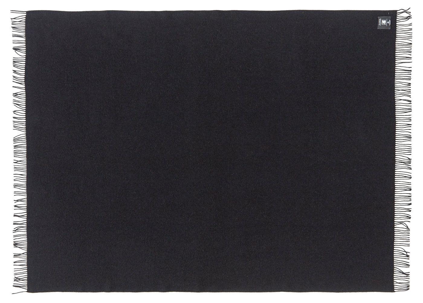 Athen Plaid, Uld, Black, 200x130 - Silkeborg Uldspinderi