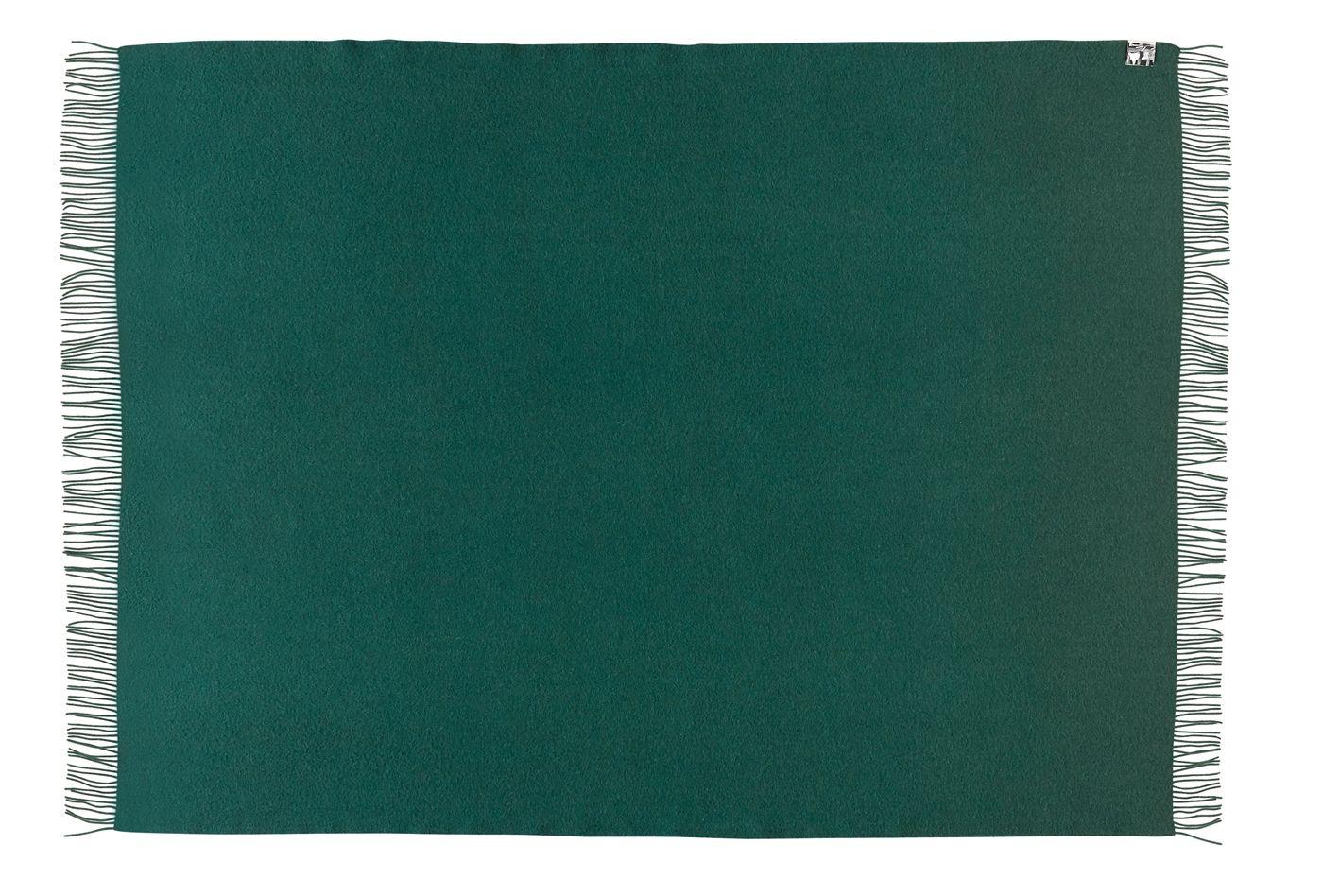 Athen Plaid - Mørk grøn Uld - 200x130 - Silkeborg Uldspinderi