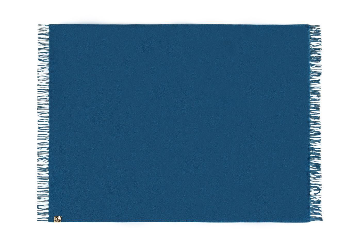 Athen Plaid, Uld, Petrol-Blue, 200x130 - Silkeborg Uldspinderi