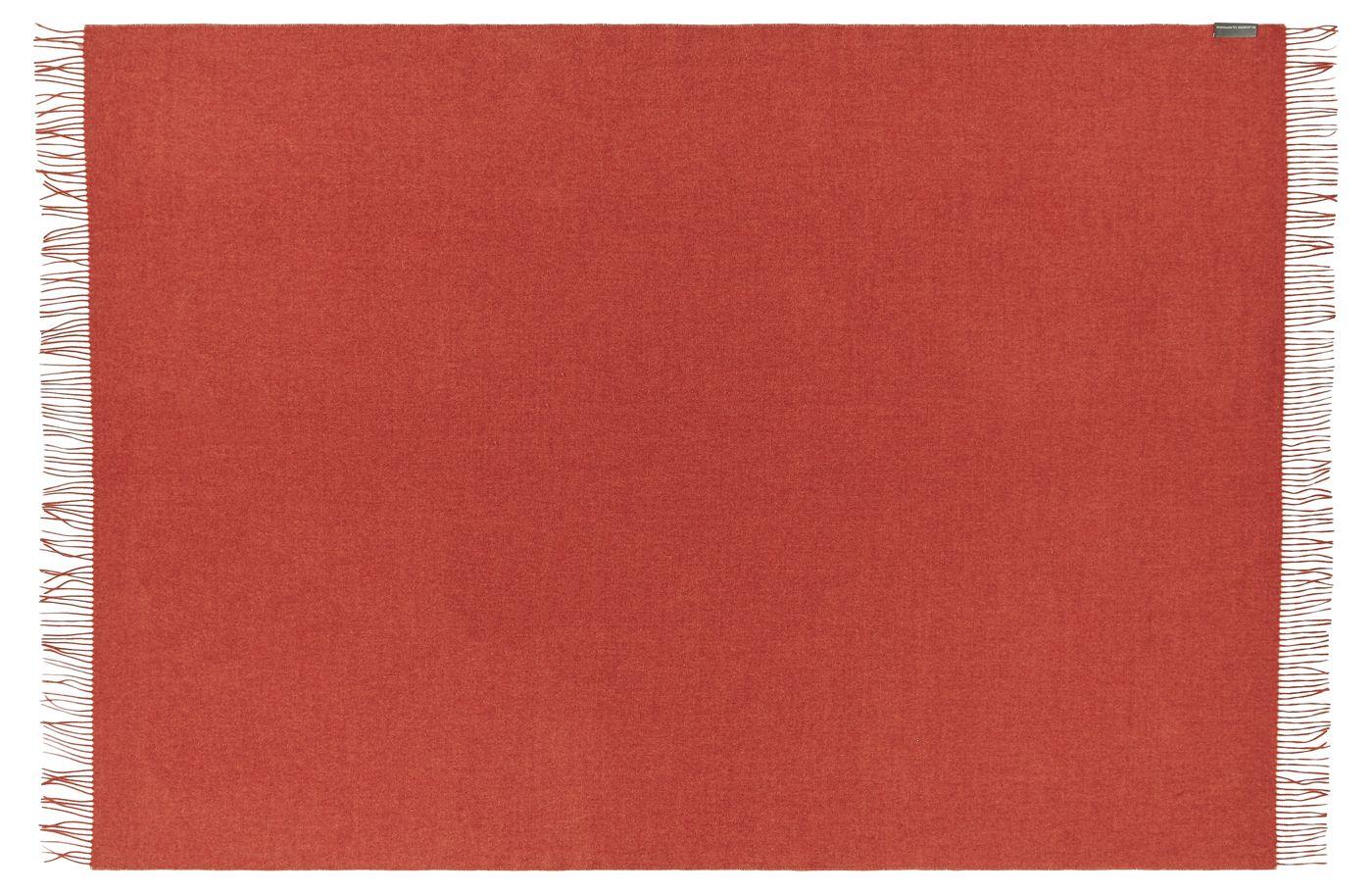 Cusco Plaid, Baby Alpaca, Orange, 200x130 - Silkeborg Uldspinderi