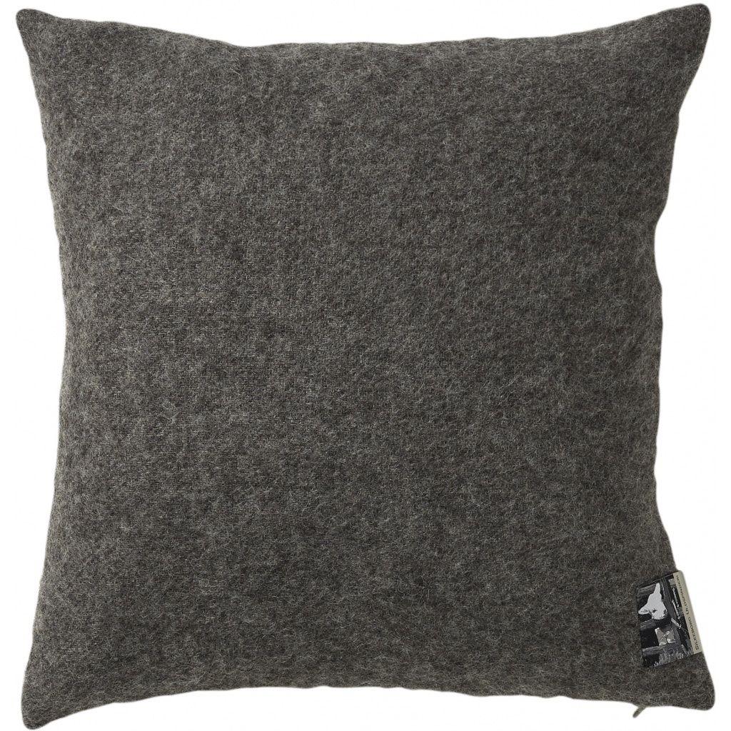 Gotland Pude, Uld, Dark Nordic Grey, 40x40 - Silkeborg Uldspinderi