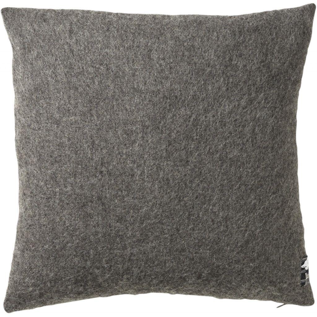 Gotland Pude, Uld, Dark Nordic Grey, 50x50 - Silkeborg Uldspinderi