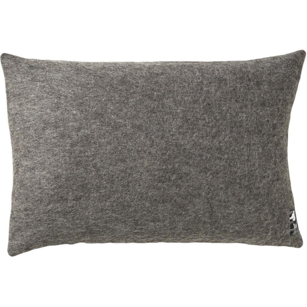 Gotland Pude, Uld, Dark Nordic Grey, 60x40 - Silkeborg Uldspinderi