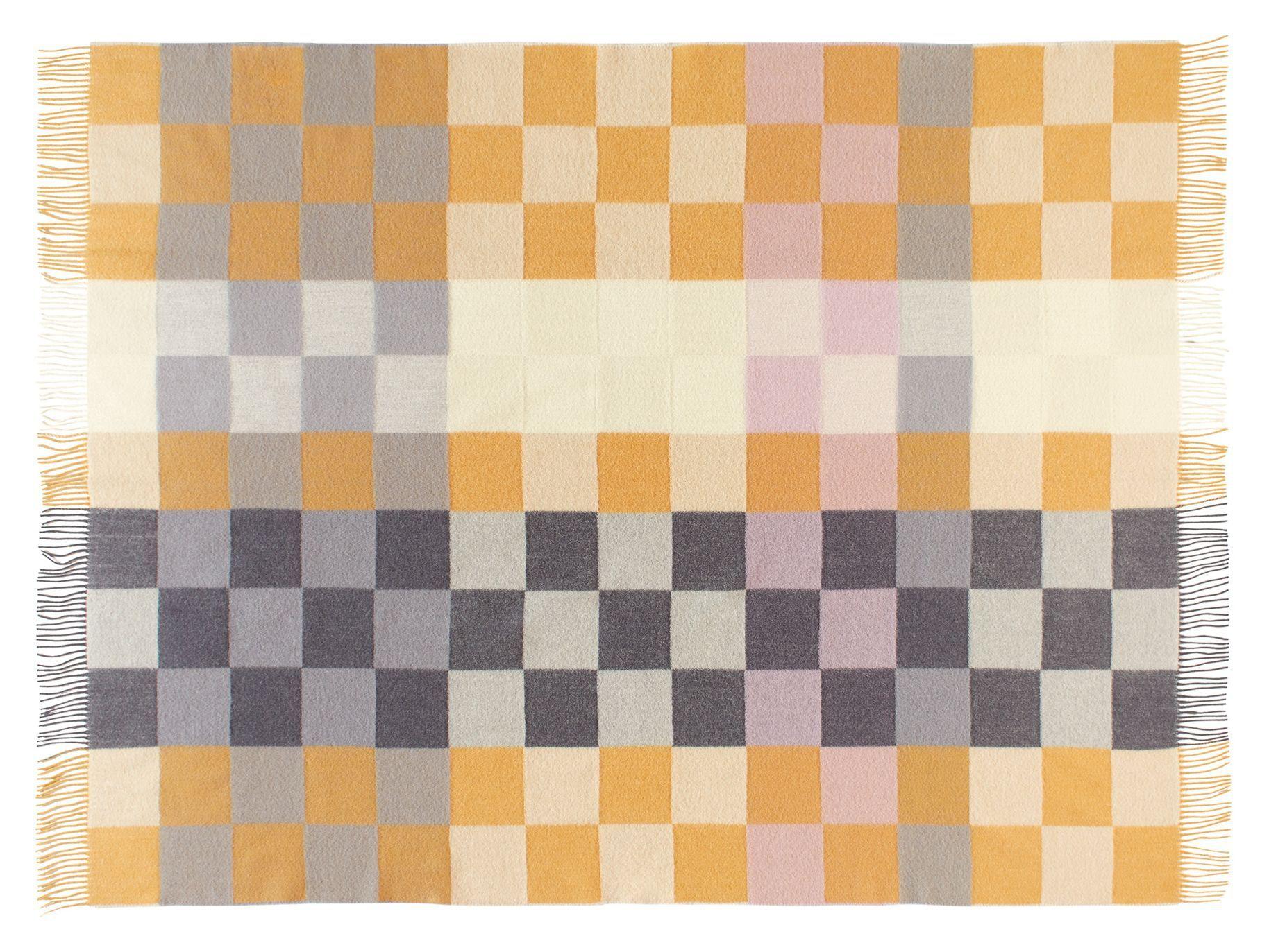 Plain Beat Plaid, Uld, Honey Rose, 130x190 - Silkeborg Uldspinderi
