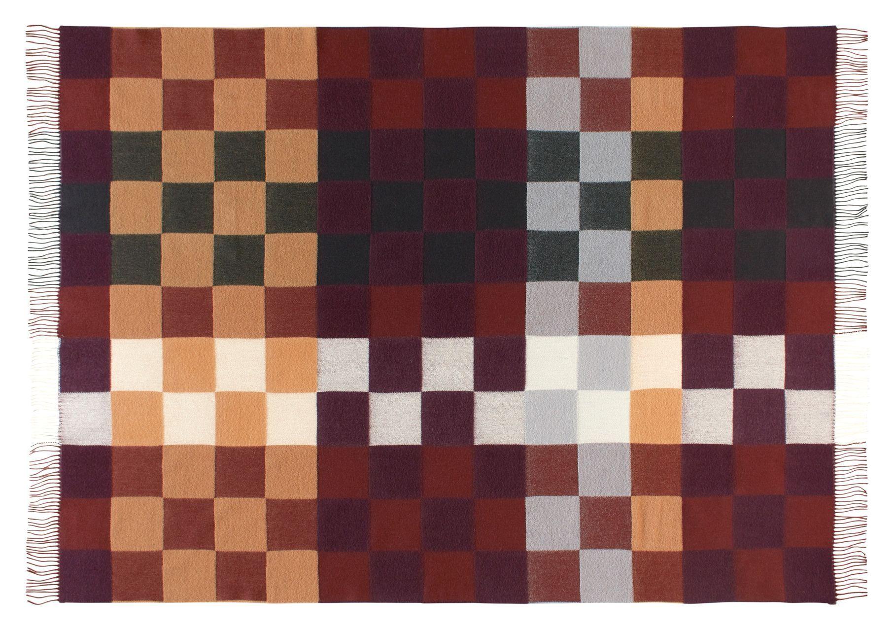 Plain Beat Plaid, Uld, Warm Red, 130x190