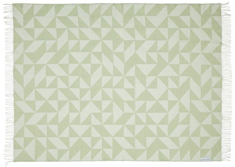 Twist a Twill Plaid - Jade grøn  - 190x130 - Silkeborg Uldspinderi
