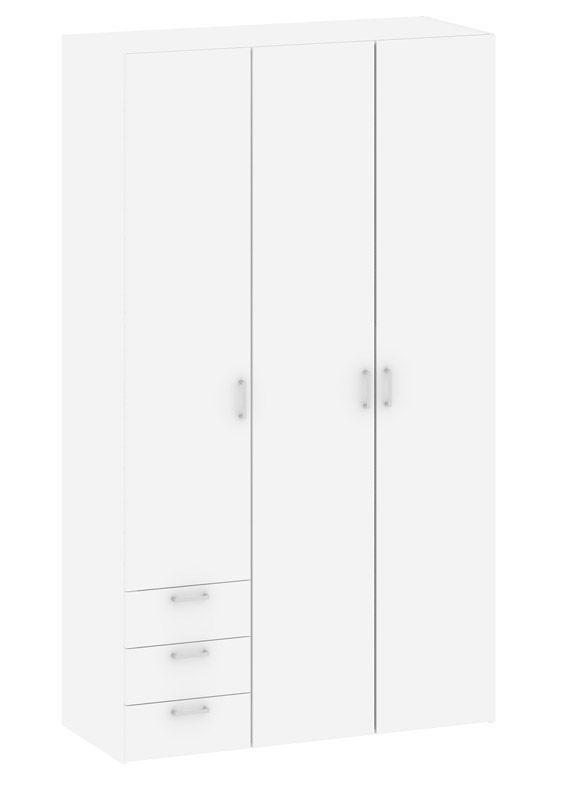 Space Garderobeskab - Hvid m/skuffer - Hvidt garderobeskab
