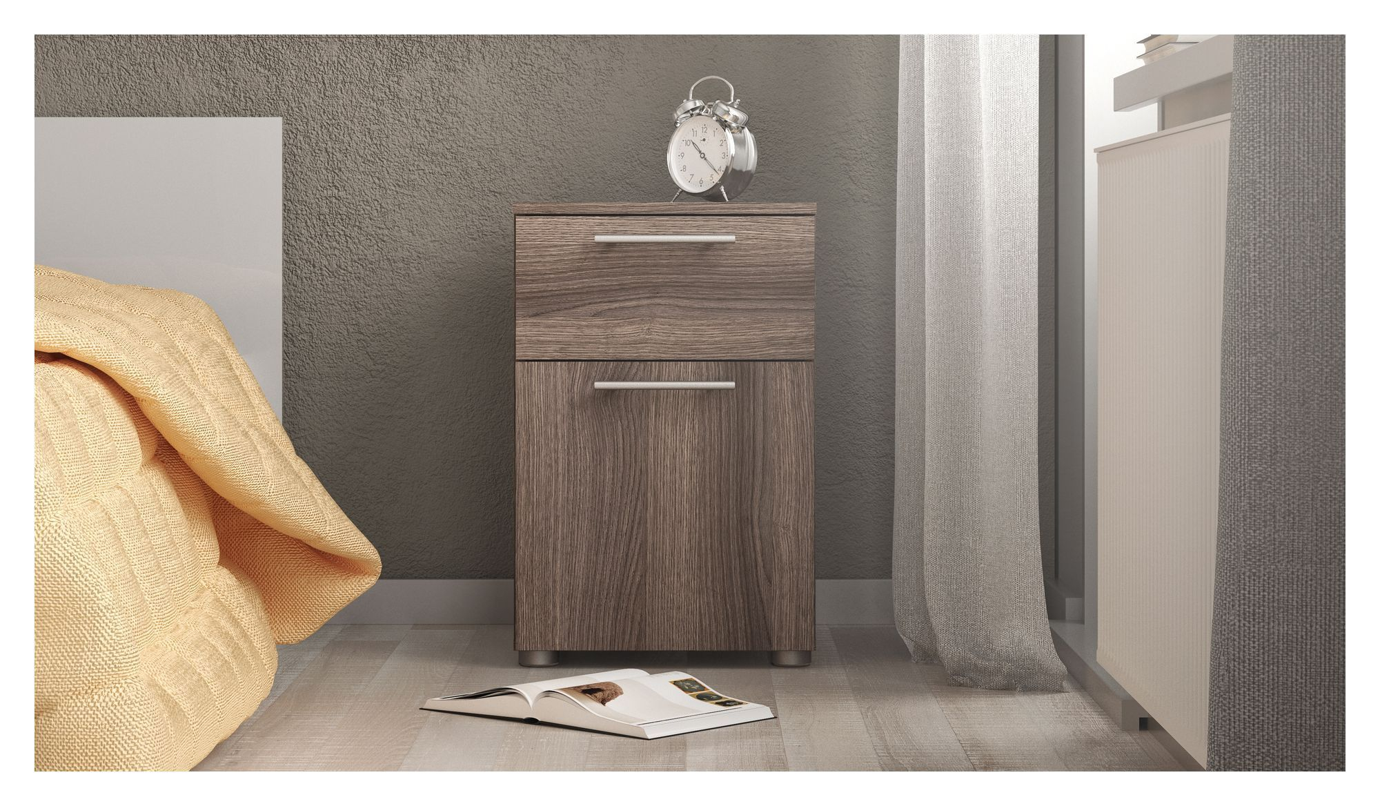 Style Sengebord - Grå - Antracitgrå sengebord