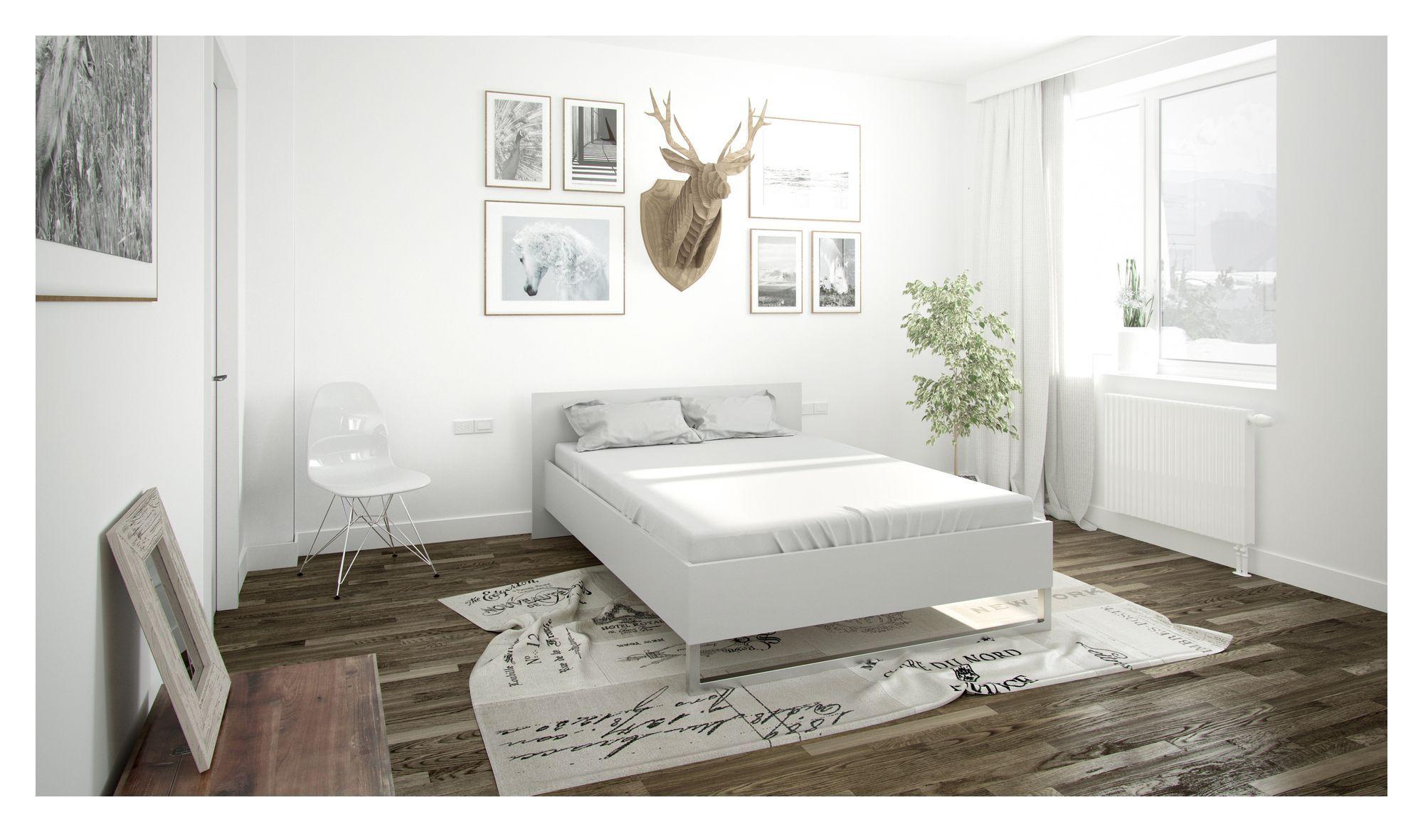 Style Sengeramme - Hvid 140x200 - Hvid seng - 140x200 cm