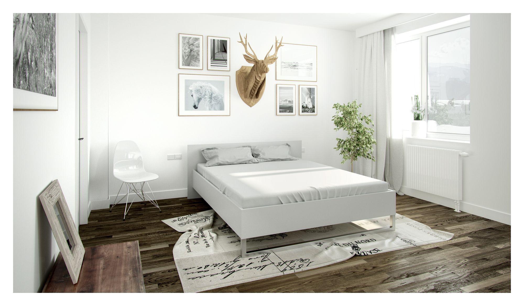 Style Sengeramme - Hvid 160x200 - Hvid seng - 160x200 cm
