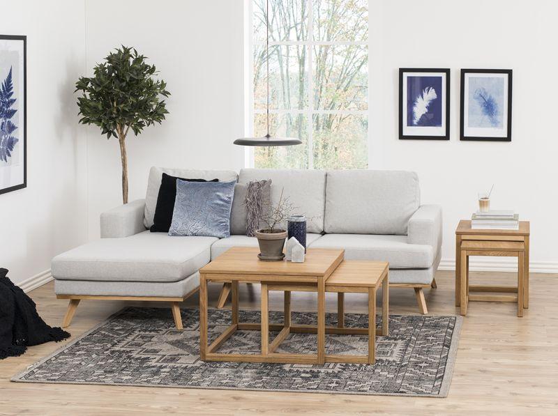 Tau Sofabordssæt 70x70 - Oliebehandlet