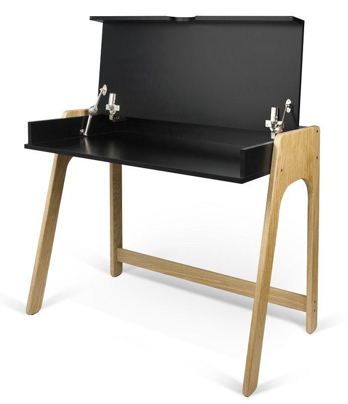 Temahome - Aura Skrivebord - Sort - Sort skrivebord