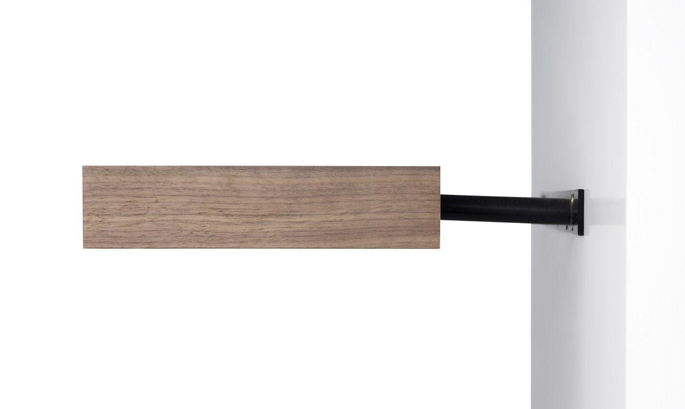 Temahome Balda Svævehylde, valnødfinér, 60x22