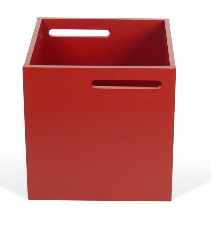 Temahome Berlin opbevaringsboks - Rød - Rød boks til Berlin reol