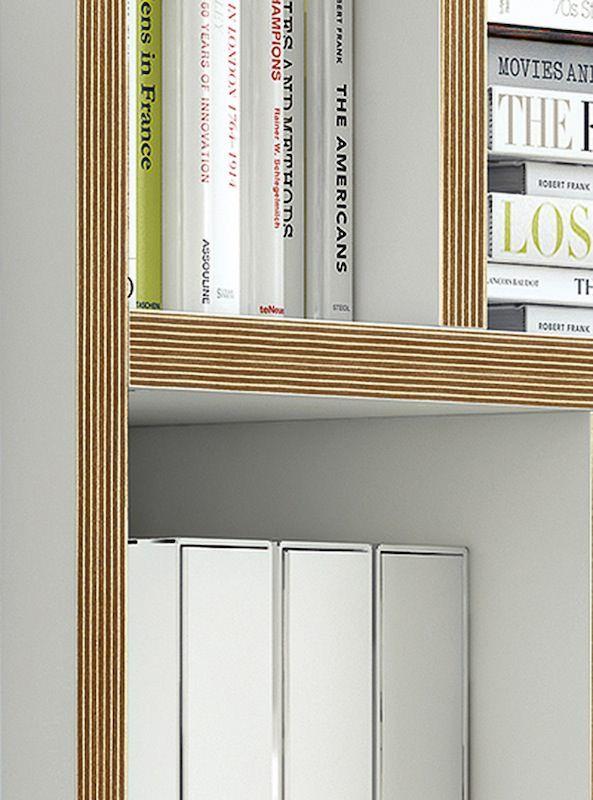 Temahome - Berlin Reol - Hvid 150x159 - Reol i natur/hvid