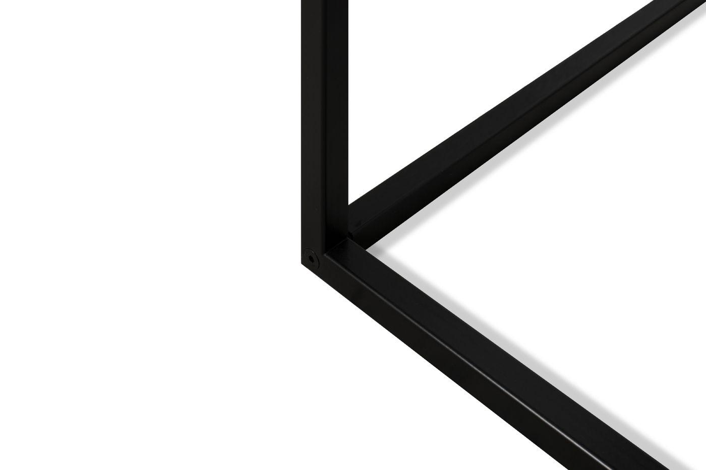 Temahome City Skrivebord 130x50 - Lys egefinér/Sort
