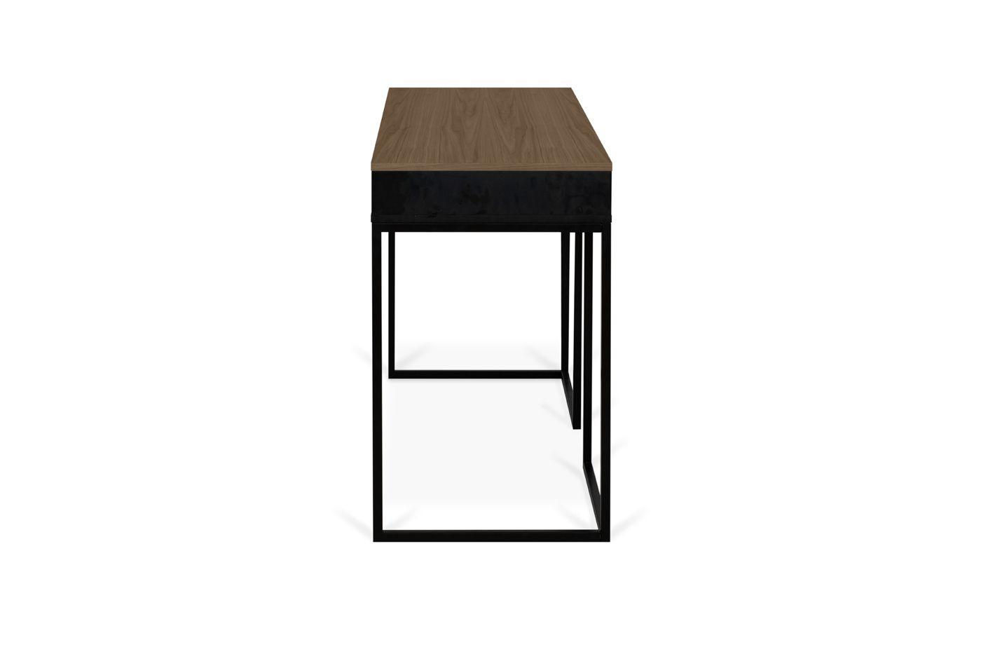 Temahome City Skrivebord 130x50 - Valnød/Sort