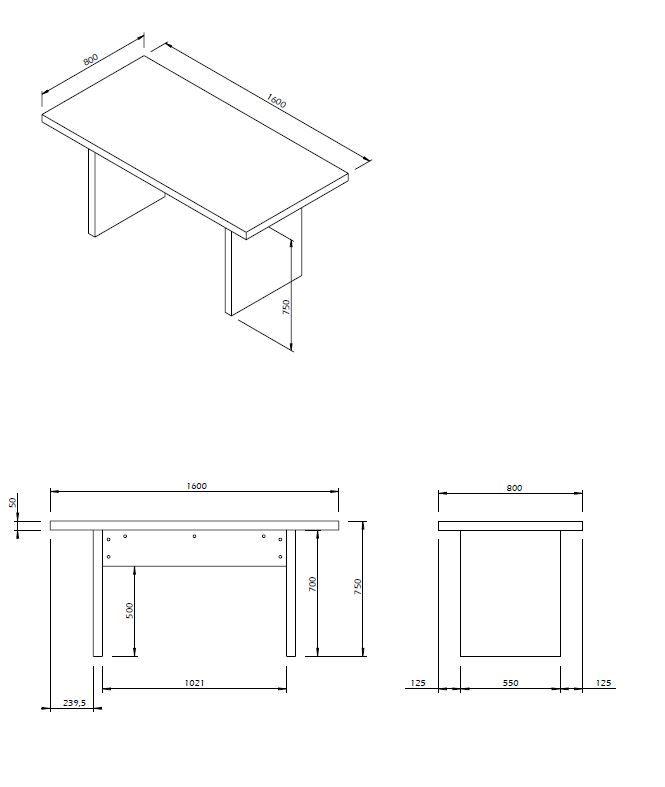 Temahome Detroit Spisebord - Grå beton-look