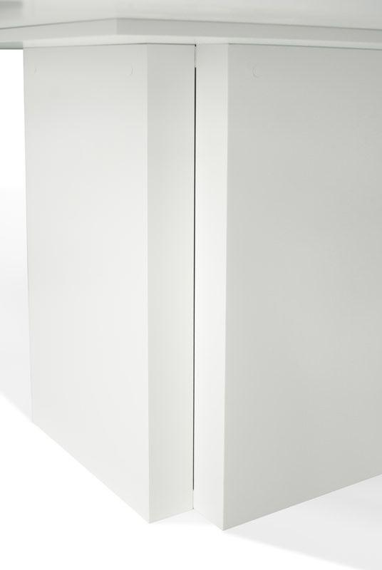 Temahome - Dusk Spisebord - Hvid højglans 130x130 - Stilrent spisebord i hvid m. central fod
