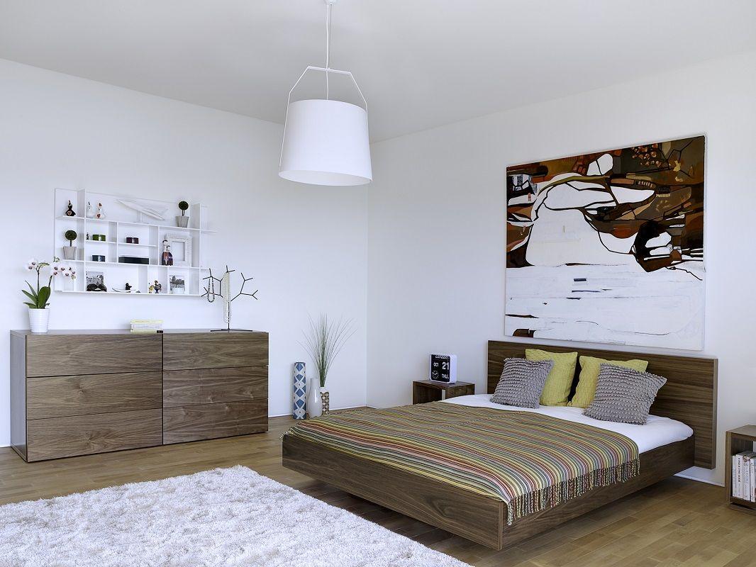 Temahome - Float Sengeramme - Valnød - 180x210 - Smuk minimalistisk sengeramme