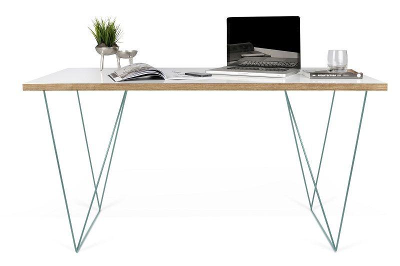 Flow Skrivebord - Hvid - Hvidt skrivebord