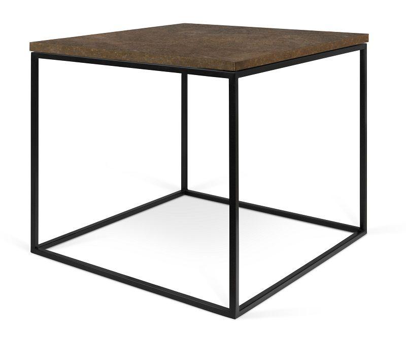 Temahome - Gleam Sidebord - Brun - 50 cm - Sidebord med rust-look