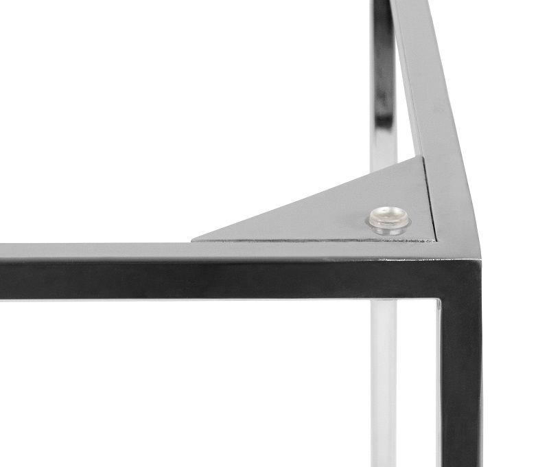Temahome - Gleam Sidebord - Grøn m/krom stel 50 cm - Grønt marmorsidebord med kromstel