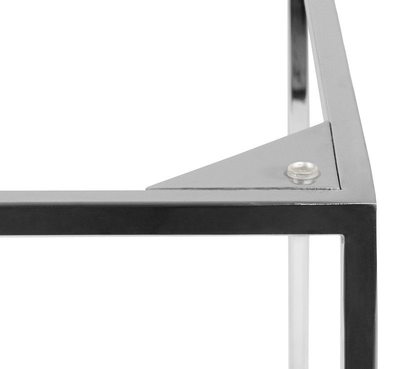 Temahome - Gleam Sidebord - Hvid m/krom stel - Hvidt marmorsidebord med kromstel