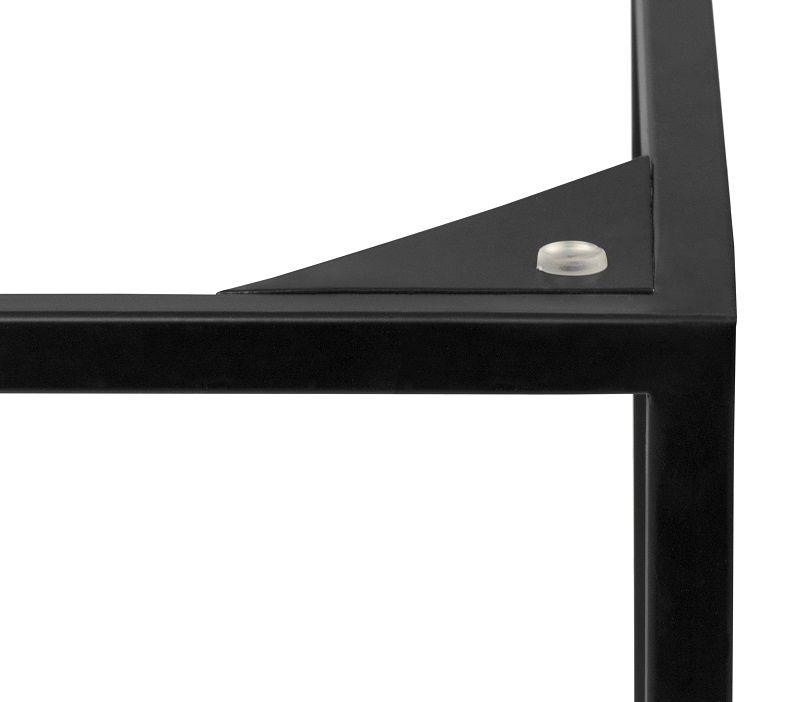 Gleam Sidebord - Sort - 50 cm - Sort marmorsidebord med stålstel
