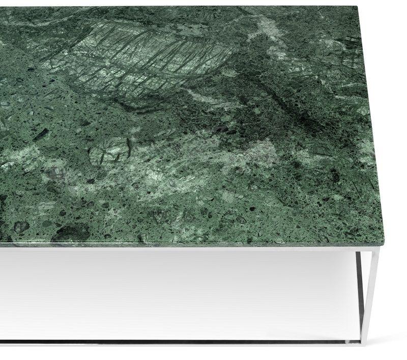 Temahome Gleam Sofabord - Grøn marmor, krom stel 120 cm