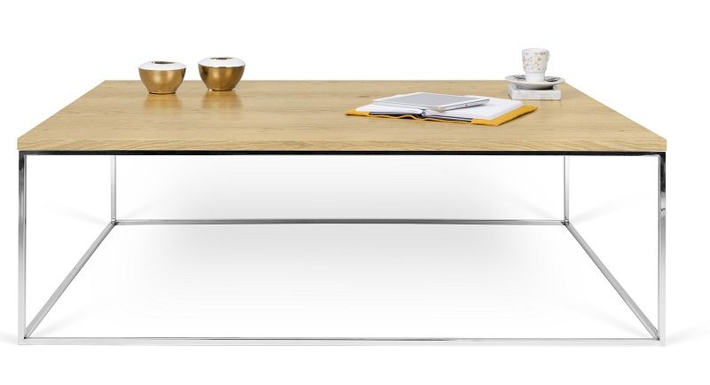 Temahome Gleam Sofabord - Lys træ 120 cm - Sofabord i honeycomb panel