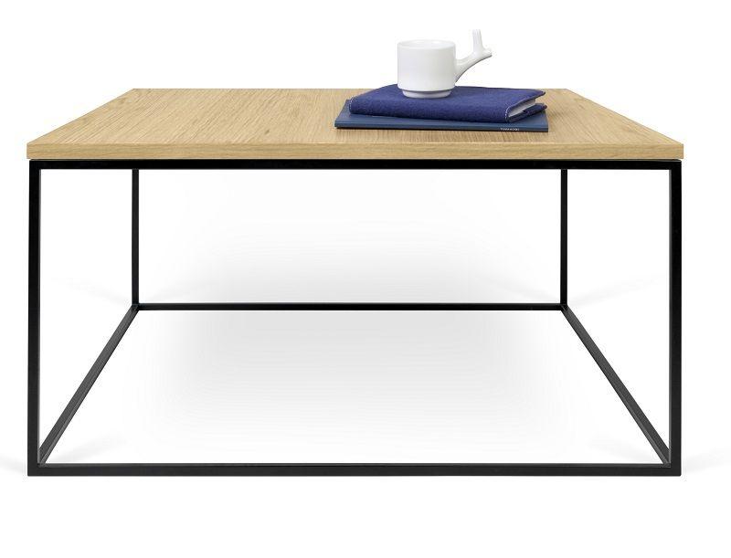 Temahome - Gleam Sofabord - Lys træ m/sort stel 75 cm - Sofabord i honeycomb panel