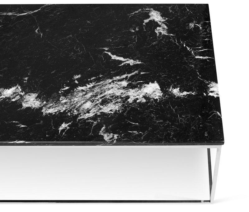Temahome Gleam Sofabord - Sort marmor, krom stel 120 cm