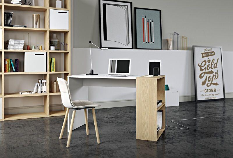 Temahome - Harbour Skrivebord - Hvid - Hvidt skrivebord