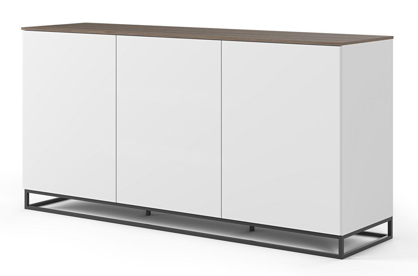 Temahome Join H2 Skænk - Mat Hvid/Valnød