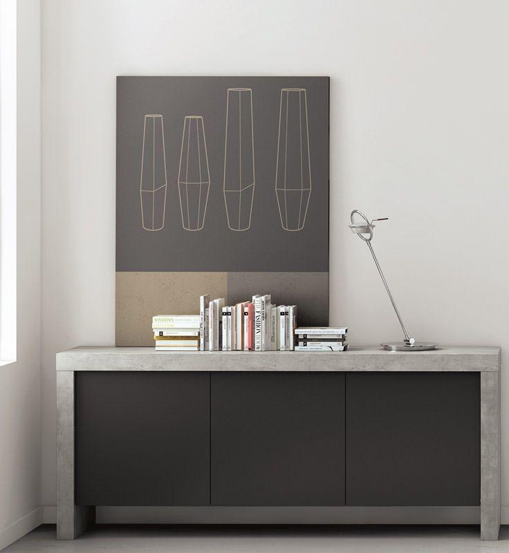 Kobe Skænk - Sort - Skænk i sort/grå
