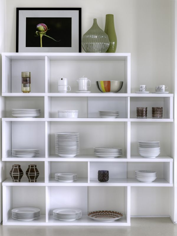 Temahome - London Reol - Hvid H:160 - Asymmetrisk reol i hvid/hvid
