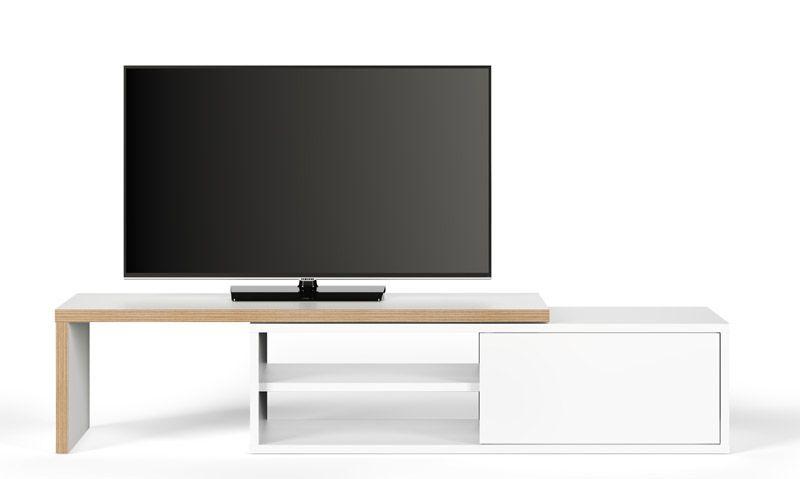 Move TV-bord - Hvid - TV-bord med en bevægelig top