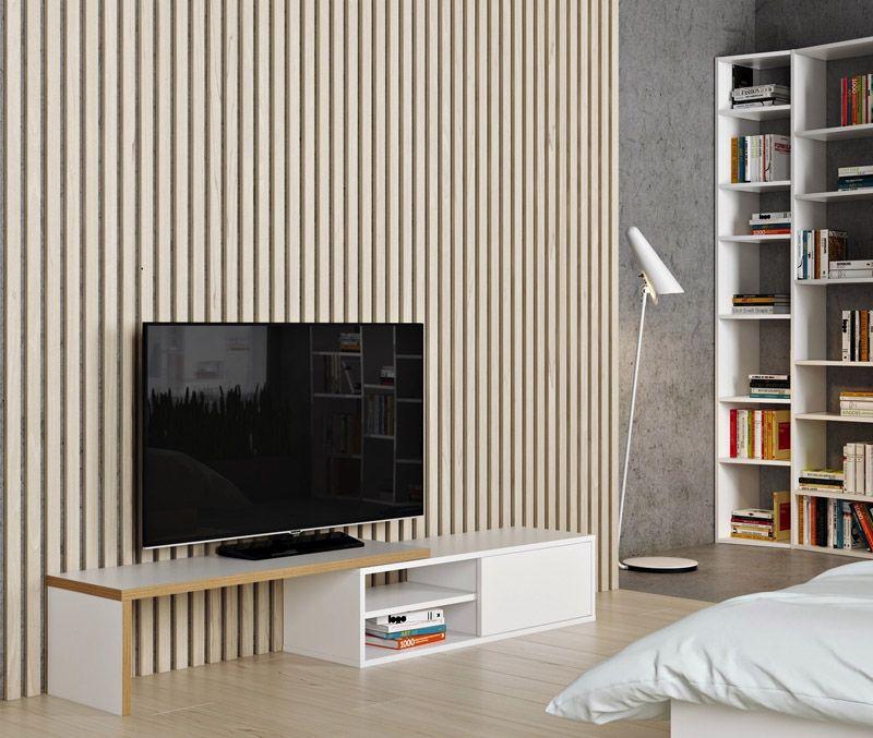 Temahome Move TV-bord - Hvid - TV-benk med bevegelig topp