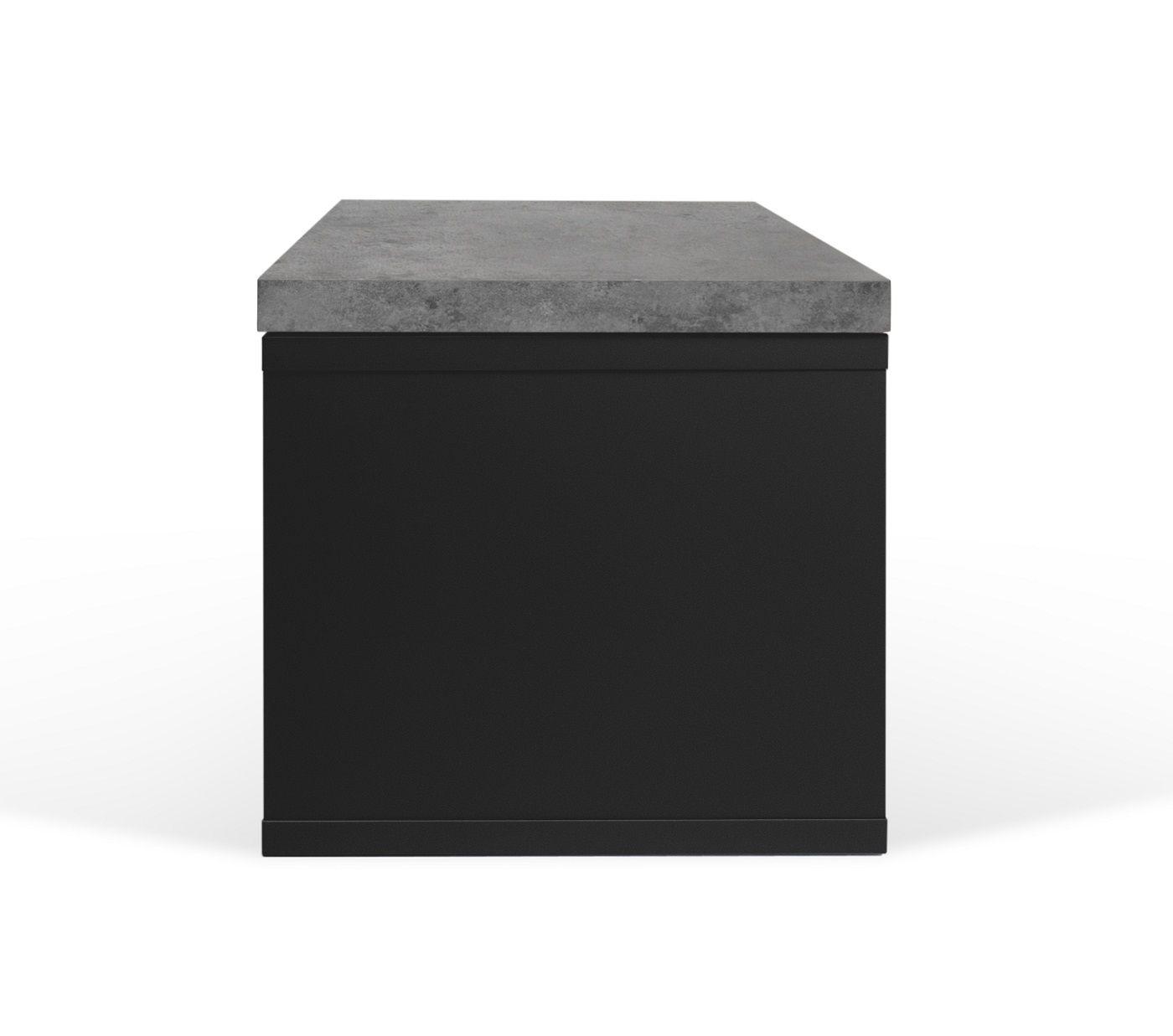 Temahome Move Tvbord - Mørk Betongrå/Sort