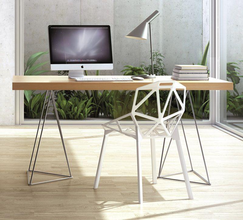 Temahome - Multi Skrivebord - Egefinér 180 cm - Skrivebord i egetræsfinér