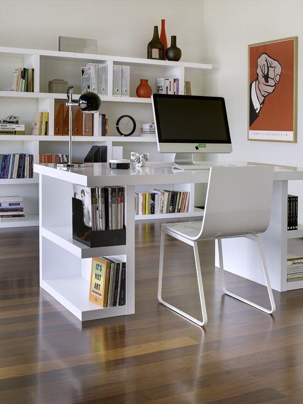 Temahome - Multi Skrivebord - Skuffeben - Hvid - Skrivebord med opbevaring