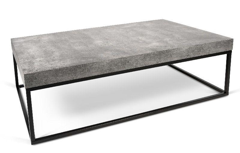 Petra Sofabord - Grå - Elegant sofabord i råt beton-look