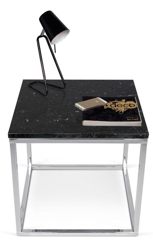 Temahome - Prairie Hjørnebord - Hjørnebord m. sort marmorplade